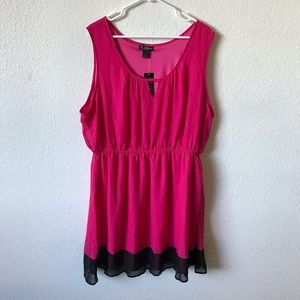 DELIRIOUS HOT PINK DRESS SIZE 3X NWT